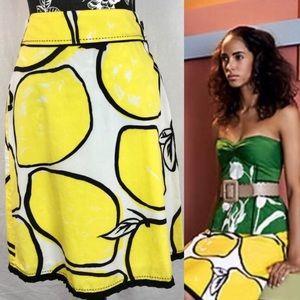 Odille lemon skirt
